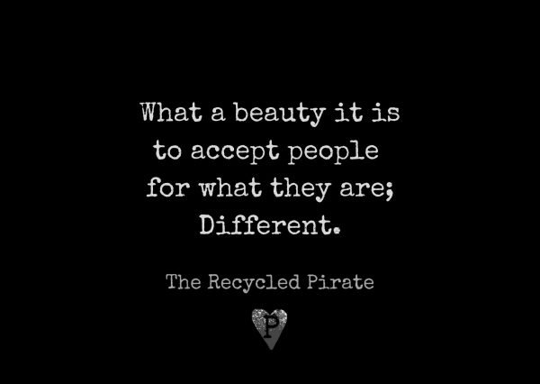 What a beauti it is to accept people for what they are Different recycled paper postcard by The Recycled Pirate