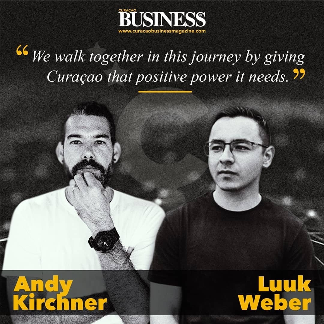 Curacao Business Magazine Innovation Ç Dcommunicates articleAndy Kirchner and Luuk Weber